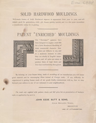 Advert For John Eede Butt & Sons, Makers Of Hardwood Frames